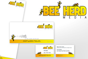 Beeherd media stationary, logo and website design